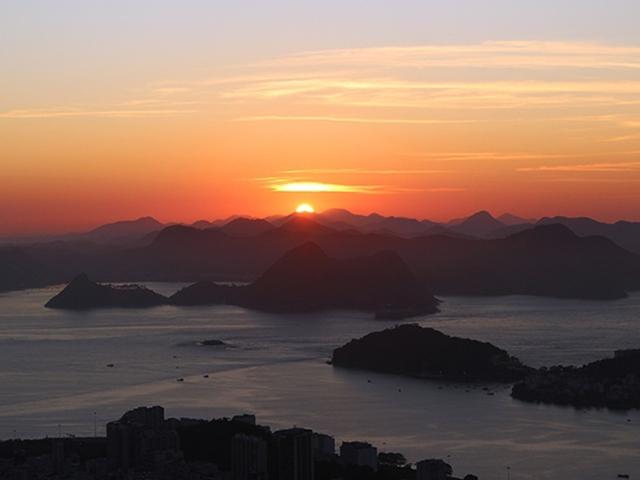Nascer do sol no Mirante Dona Marta / Foto: Amanda Antunes
