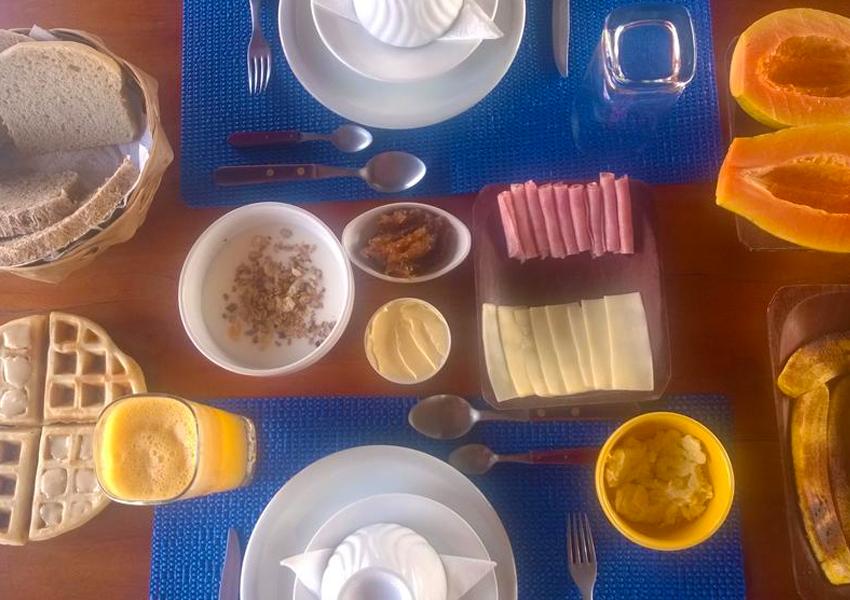Pousada Estrela do Mar: Café da manhã maravilhoso!