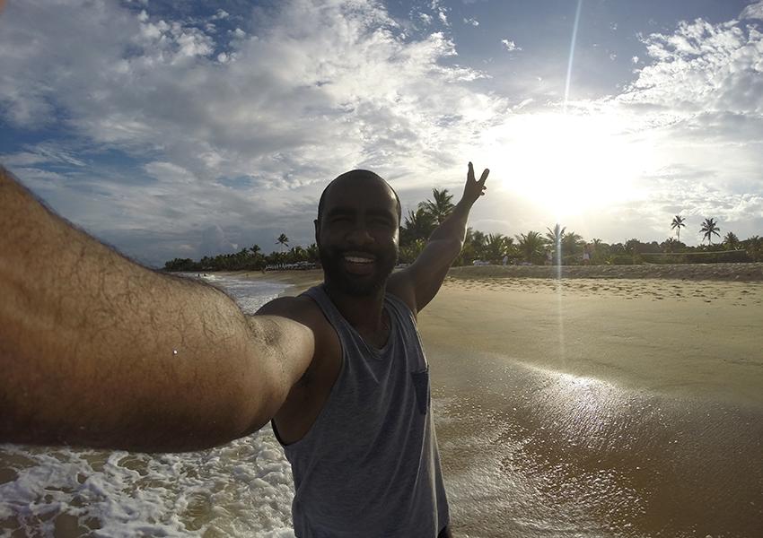Trancoso Bahia: Por-do-sol entre as praias dos Nativos e Coqueiros