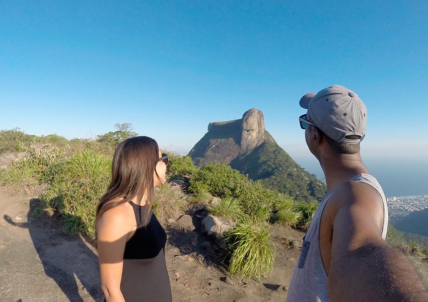 Trilha com vista para Pedra da Gávea