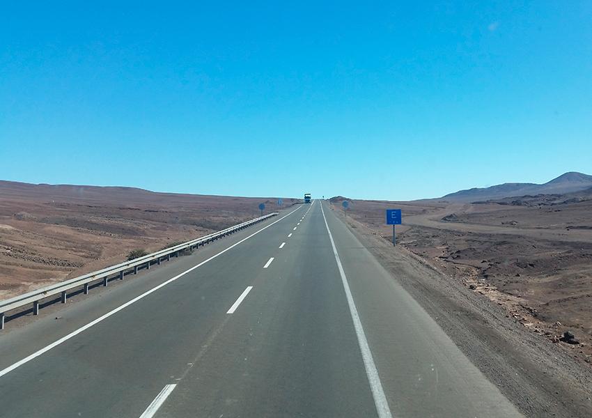 De Santiago a San Pedro de Atacama a estrada é assim